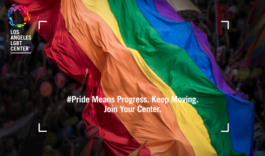 Pride Means Progress. Keep Moving. Join Your Center.